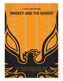 Poster No398 My smokey and the bandits minimal movie poster