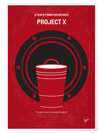 Premium poster No393 My PROJECT X minimal movie poster