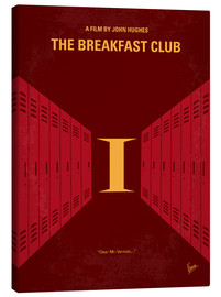 Canvas  No309 My The Breakfast Club minimal movie poster - chungkong