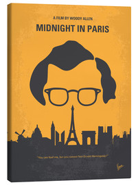Canvas print  No312 My Midnight in Paris minimal movie poster - chungkong