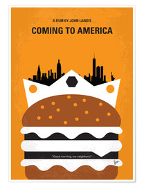 Premium poster No402 My Coming to America minimal movie poster