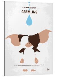 Alu-Dibond  No451 My Gremlins minimal movie poster - chungkong