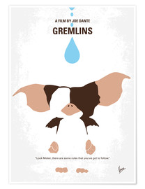 Poster  No451 My Gremlins minimal movie poster - chungkong