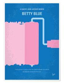 Premium poster No359 My Betty Blue minimal movie poster