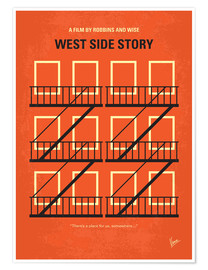 Premium poster No387 My West Side Story minimal movie poster