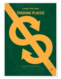 Premium poster No377 My Trading Places minimal movie poster