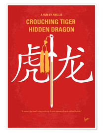Premium poster No334 My Crouching Tiger Hidden Dragon minimal movie poster