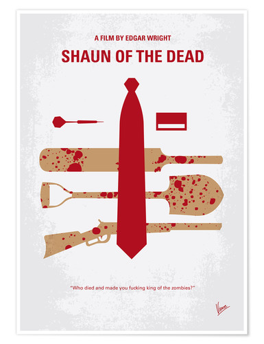 Poster No349 My Shaun of the Dead minimal movie poster