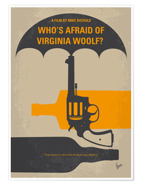Premium poster No426 My Whos Afraid of Virginia Woolf minimal movie poster