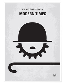 Premium poster No325 My MODERN TIMES minimal movie poster