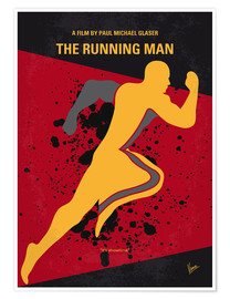 Premium poster No425 My Running man minimal movie poster