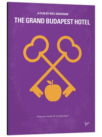 Aluminium print  No347 My The Grand Budapest Hotel minimal movie poster - chungkong