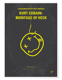 Premium poster No448 My Montage of Heck minimal movie poster
