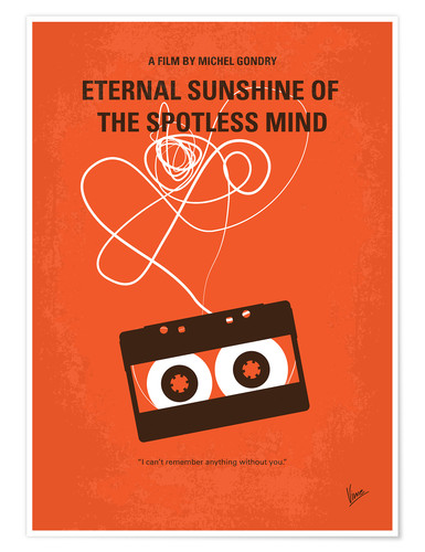 Poster No384 My Eternal Sunshine of the Spotless Mind minimal movie poster