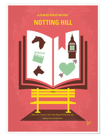 Premium poster No434 My Notting Hill minimal movie poster
