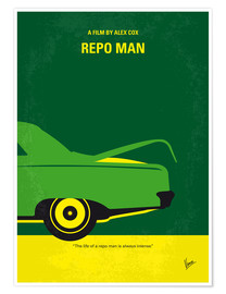 Premium poster No478 My Repo Man minimal movie poster