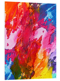 Foam board print  Colorful abstraction