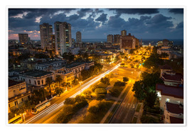 Premium poster View of Havana