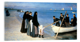 Acrylic print  Departure of the fishermen, Skagen - Peder Severin Krøyer