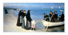 Premium poster  Departure of the fishermen, Skagen - Peder Severin Krøyer