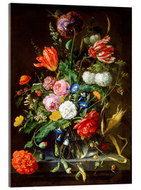Acrylic glass  Flowers piece - Jan Davidsz de Heem