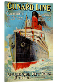Acrylic print  Cunard Line - Liverpool, New York, Boston - Edward Wright