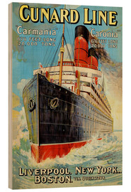 Wood print  Cunard Line - Liverpool, New York, Boston - Edward Wright