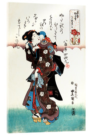 Acrylic print  Mother and child, obvious love - Utagawa Kunisada