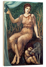 Wood print  Earth Mother - Edward Burne-Jones