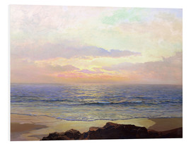 Foam board print  Sunset over the sea. - Frederick Judd Waugh