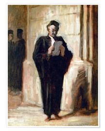 Premium poster  Reading lawyer. - Honoré Daumier