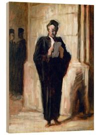 Wood  Reading lawyer. - Honoré Daumier