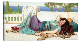Canvas print  Mischief and Repose - John William Godward