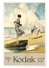 Premium poster  Take a Kodak with you  - Claude Shepperson