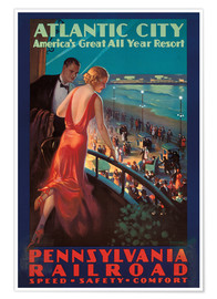 Premium poster Travel to Atlantic City with the Pennsylvania Railroad