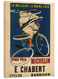 Wood print  Bicycle tires Michelin - H.L. Roowy