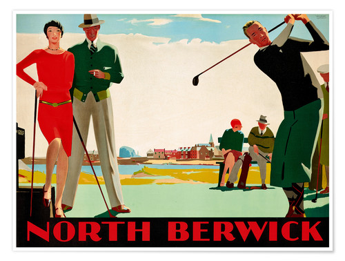 Premium poster North Berwick Golf Club