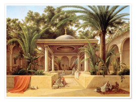 Premium poster  The Kabanija Fountain in Cairo - Grigory Tchernezov