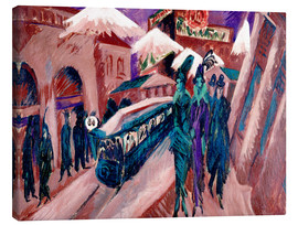 Canvas print  Leipziger Strasse with electric train - Ernst Ludwig Kirchner