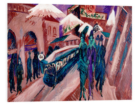 Foam board print  Leipziger Strasse with electric train - Ernst Ludwig Kirchner