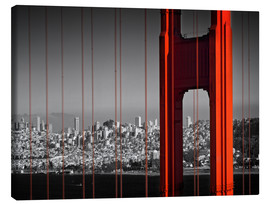 Canvas print  Golden Gate Bridge in Detail - Melanie Viola