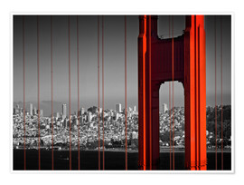 Premium poster Golden Gate Bridge in Detail