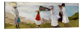 Alu-Dibond  Lighthouse Walk at Biarritz  - Joaquin Sorolla y Bastida