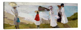 Canvas print  Lighthouse Walk at Biarritz - Joaquin Sorolla y Bastida