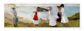 Poster  Lighthouse Walk at Biarritz  - Joaquin Sorolla y Bastida