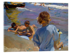Acrylic glass  Children at the beach - Joaquin Sorolla y Bastida