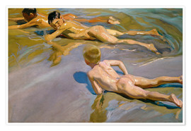 Premium poster  Children at the beach - Joaquin Sorolla y Bastida
