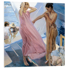Foam board print  After Bathing, Valencia - Joaquin Sorolla y Bastida