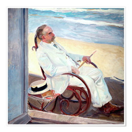 Premium poster Antonio García at the Beach