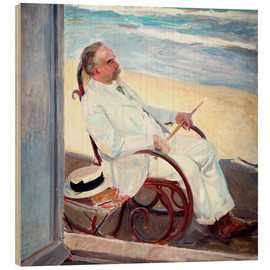 Wood  Antonio García at the Beach   - Joaquin Sorolla y Bastida